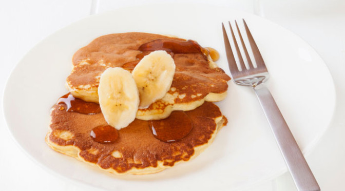3 Minute Fast & Fit Banana Nut Protein Pancakes
