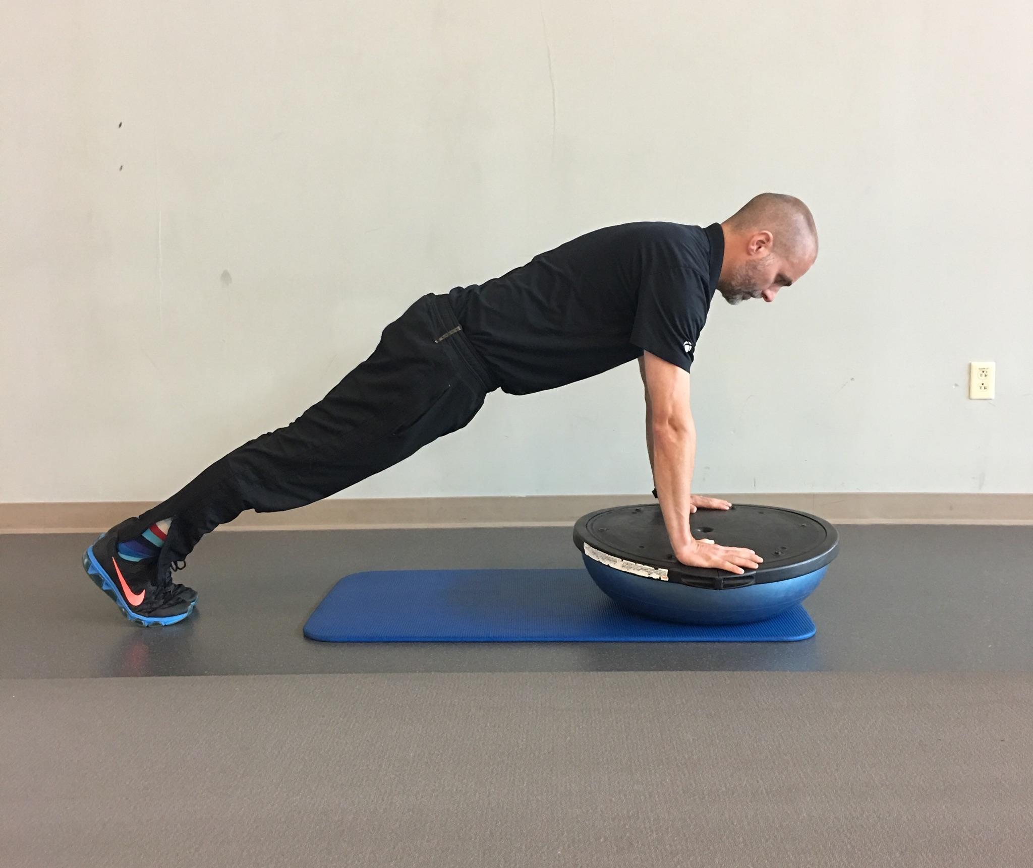 Bosu Ball Push Ups: How To Safely & Effectively Restore Your