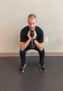 Champion Performance - Goblet Squat - Step 2